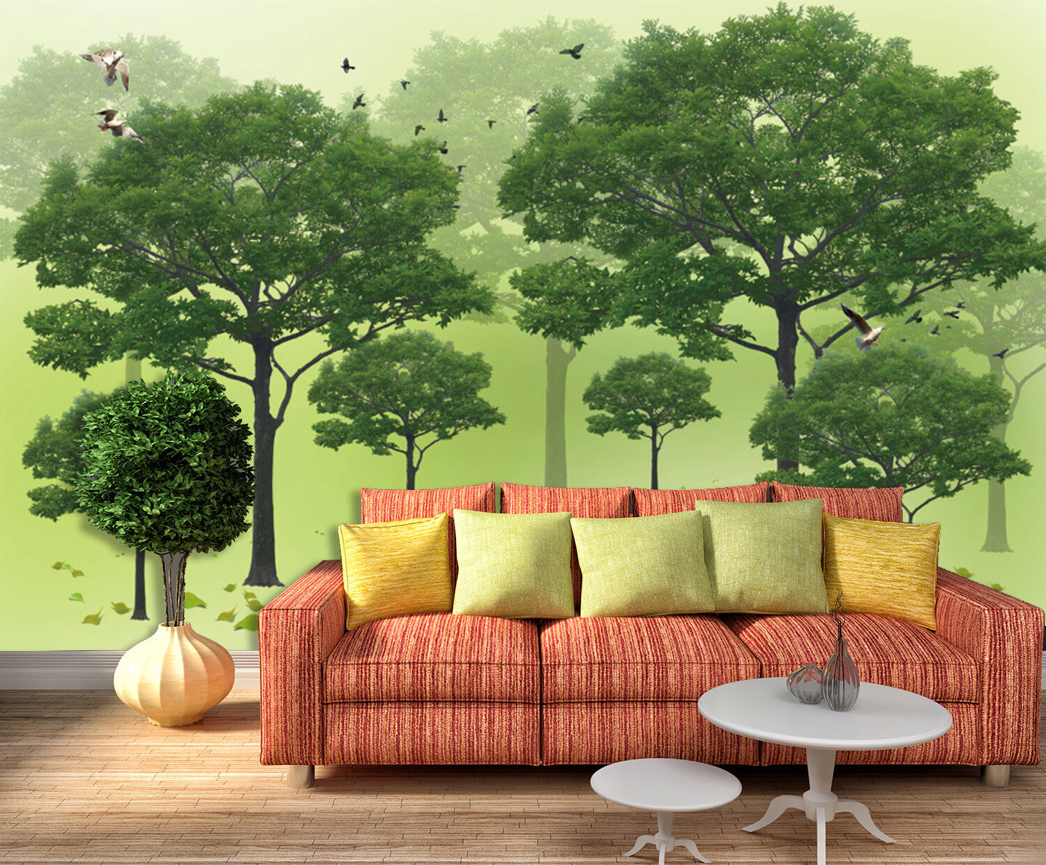 3D Trees And Flying Birds 87 Paper Wall Print Wall Decal Wall Deco Indoor Murals