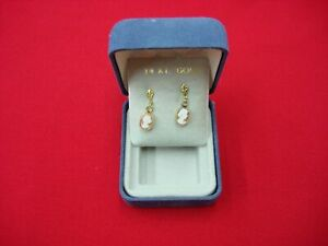 14K-GOLD-CARVED-SHELL-CAMEO-EARRINGS-IN-ORIGINAL-BOX-VERY-PRETTY