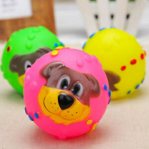Pet-Dog-Tough-Treat-Training-Chew-Sound-Activity-Toy-Squeaky-Giggle-Ball