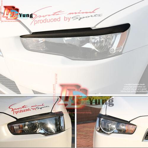 Headlight Eyebrows Eyelids Cover Moulding Trim for Mitsubishi Lancer EX//EVO X 10