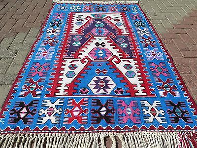 "Vintage Turkish Kilim Rug,Antalya Rug,Small Rug,Rugs 46,4""x72,4"" Area Rug,Carpet"