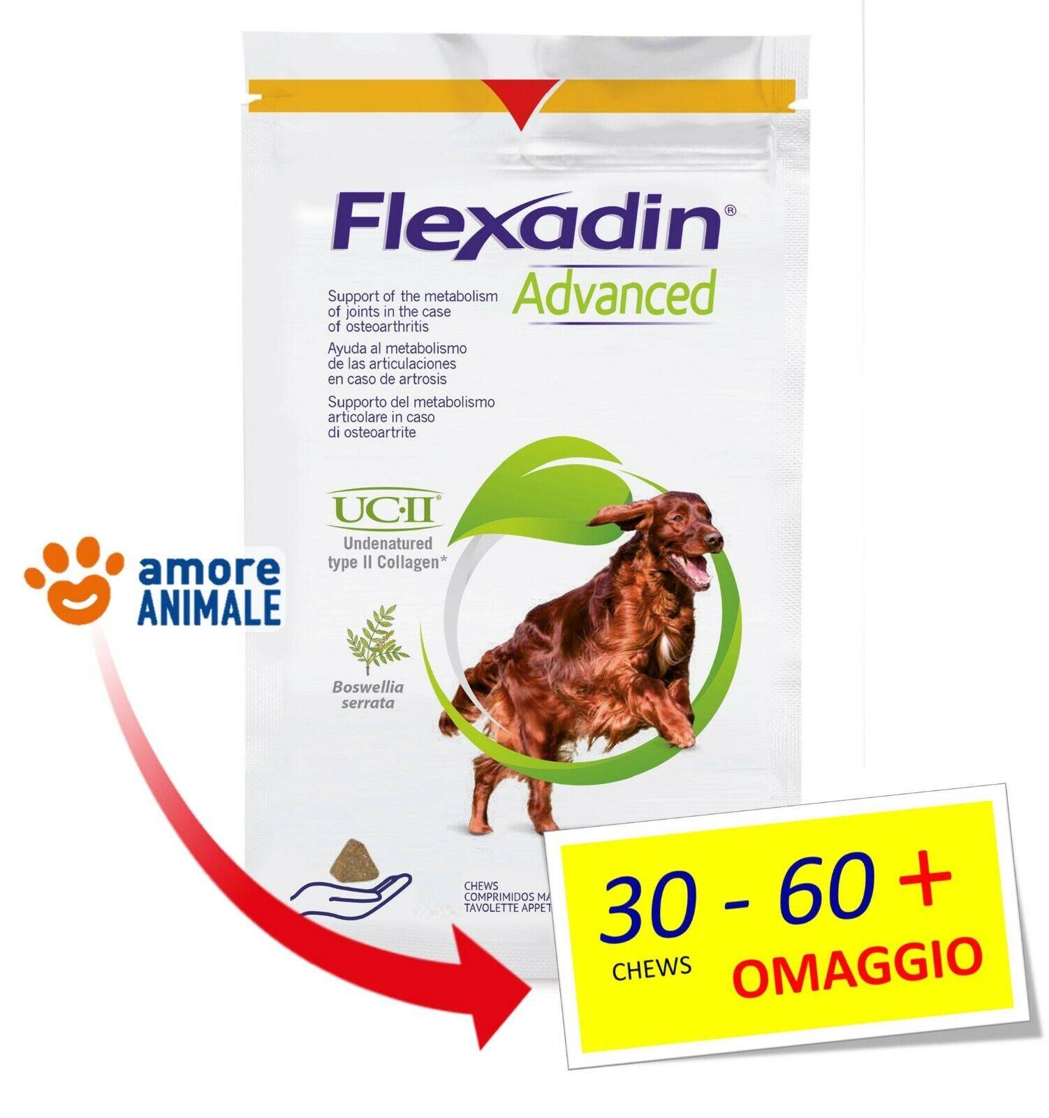 Vetoquinol Flexadin Advanced 30  60 Tavolette per CANI  Supporto articolazioni