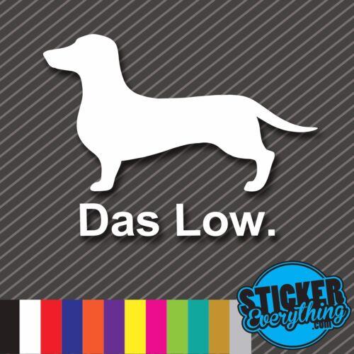 DAS LOW DACHSHUND VINYL STICKER DECAL CAR SLAMMED DOG VW JDM EURO GET STATIC