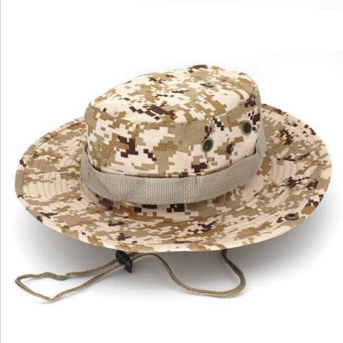 Cachou Chapeau Extérieur Pêche Chasse large bord Mesh Camouflage Safari Sun Cap NEW