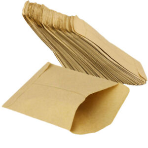 100-pcs-Kraft-Paper-Cookie-Candy-Package-Gift-Bags-Cellophane-Party-NEW