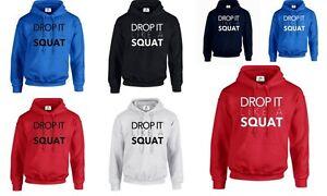 Drop it Like a Squat Funny Gym Workout Gear Fitness Crossfit LOL Hoodies