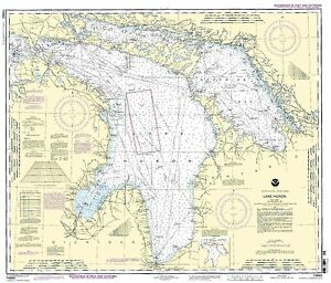 NOAA Chart Lake Huron 36th Edition 14860