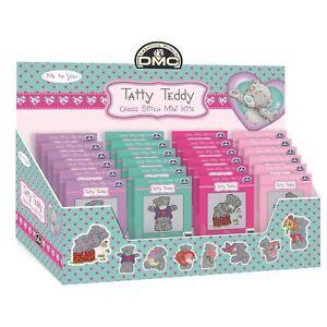DMC-Mini-Cross-Stitch-Kit-Me-to-You-Tatty-Teddy-8-Designs