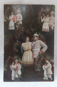AK-Soldat-mit-seiner-Liebsten-Uniform-Pickelhaube-gel-1915