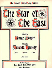 The Star Of The East-1918-Sheet Music-used