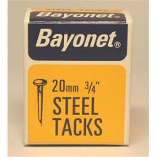 Bayonet Tacks fine Cut Steel box Pack - Blue 20mm