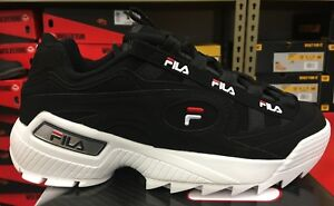 499a91c4828 FILA D-Formation Men s Tracking Casual Sneakers Black Red White ...