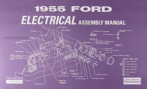 1955 ford car electrical wiring assembly manual wiring diagrams rh ebay com