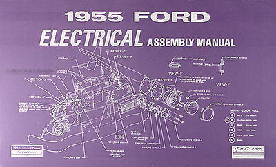 1955 Ford Car Electrical Wiring Assembly Manual Wiring Diagrams Schematics 55 Ebay