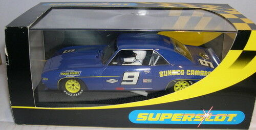 SUPERSLOT H2400 CHEVROLET CAMARO PENSKE  9 SCALEXTRIC UK MB