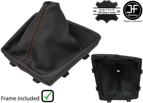MARRONE CUCITURE PELLE CUFFIA CAMBIO+TELAIO PLASTICA PER SEAT LEON MK3 FL 17-18