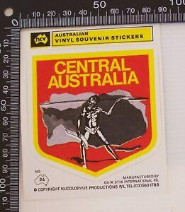 VINTAGE-CENTRAL-AUSTRALIA-ABORIGINE-AUSTRALIAN-SOUVENIR-TOURIST-BUMPER-STICKER