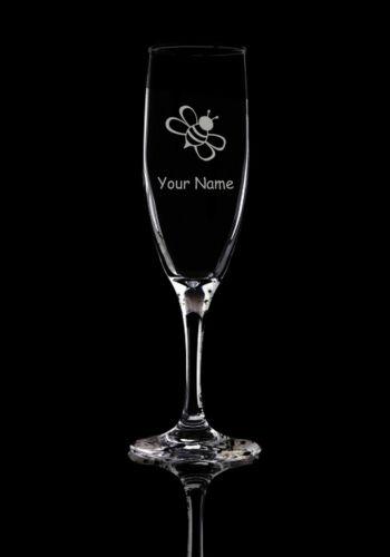 Personnalisé Verre Bumblebee Flûtes à Champagne Verre Prosecco Glass .62