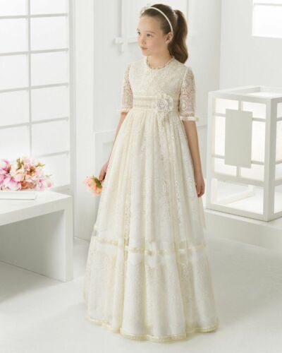 2016 Lace Appliques Flower Girl Dresses For First Communion Party Dresses