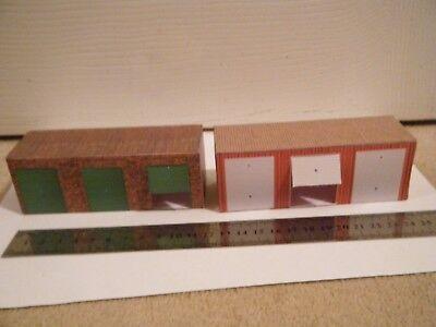 Adattabile Basic Scratch Built Card Model Railway Lock-up Garages 00 Gauge Altamente Lucido
