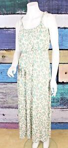 fcd6805a2 Ann Taylor LOFT Petites XXS Cream Green Leopard Print Stretch Maxi ...