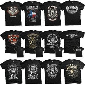 Oficial-Gas-Monkey-Garage-Fast-N-Loud-Hot-Rod-Garage-Para-hombres-Camiseta-Nuevos-Disenos