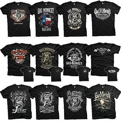Official Gas Monkey Garage Wrench Label Black T-Shirt