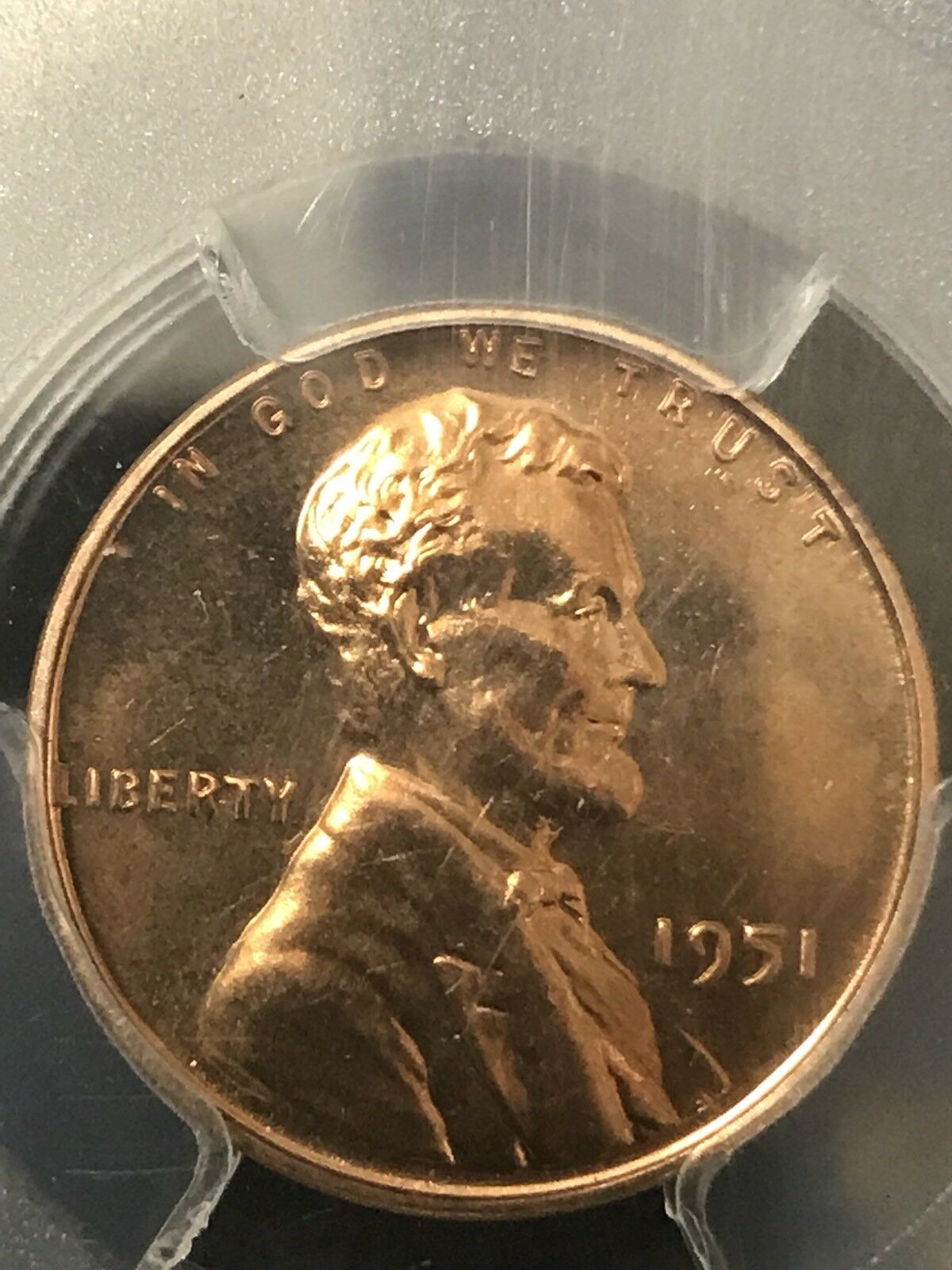 1951 1C Lincoln Cent Graded PCGS PR65RD 538