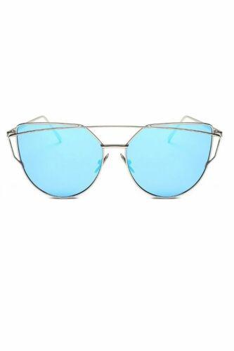 Nouveau Débardeur Homme cadre en métal double pont Cat Eye UV Festival Lunettes de soleil