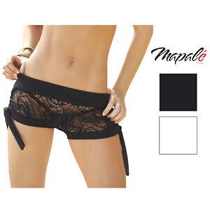 Image is loading Mapale-Womens-Crochet-Net-Swimsuit-Cover-Up-Shorts 29d8f29ec0