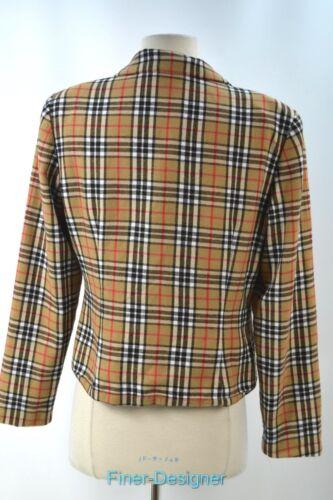 Lite British Taille Nova Veste Vérifiez 4 Maggy Plaid London S Blazer Costume Vtg Manteau Y5nv1qw