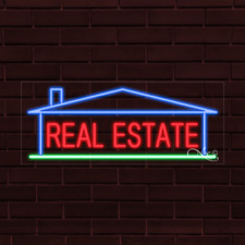 Brand New Real Estate Withhouse Border 32x13x1 Inch Led Flex Indoor Sign 30958