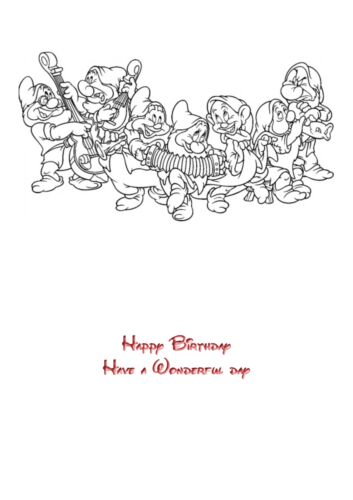 Disney Princess Snow White A5 personalised birthday card sister niece name age