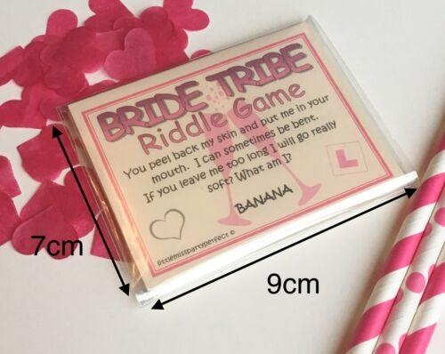 Hen Party Games Bride Tribe Hen Night Dirty Riddle Drinking Games Funny