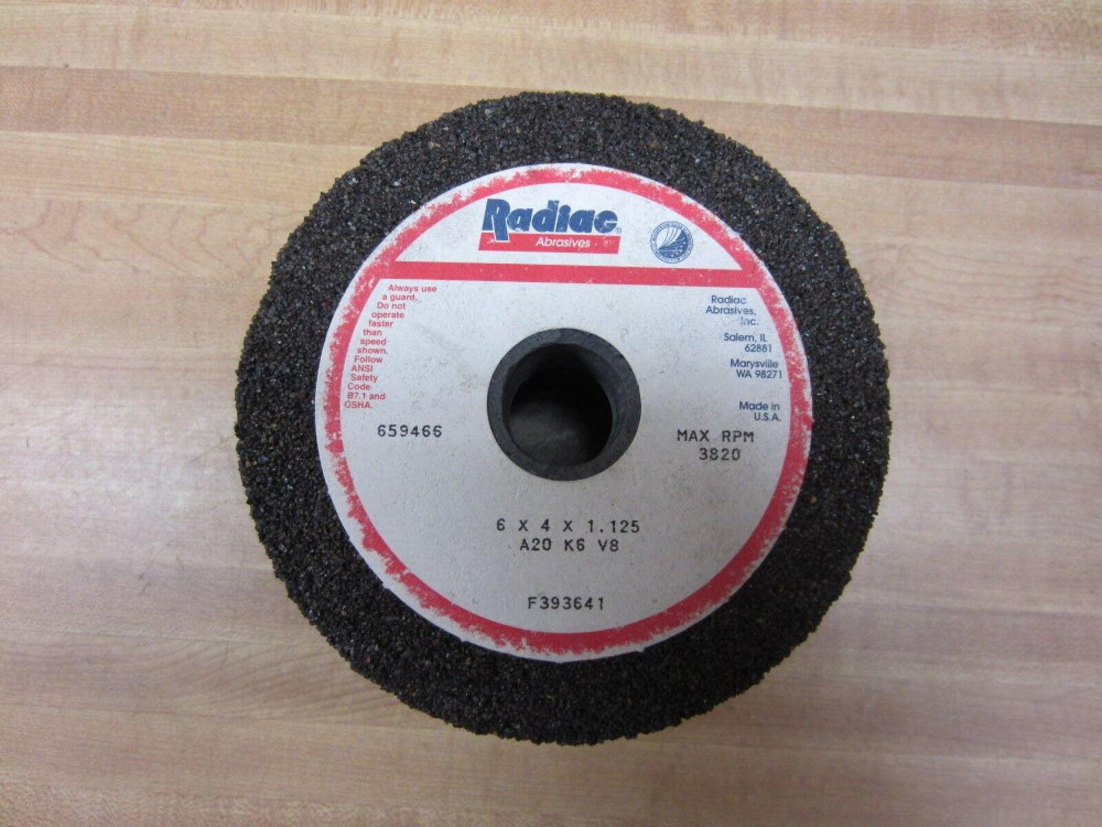 """Radiac A099090 7/""""x 1//4/""""x 1-1//4/"""" RA80-L5-V8 Ruby Surface Grinding Wheel"""