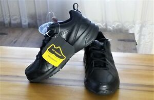 New-Balance-MX608-Black-Leather-Men-039-s-Walking-Shoes-Sz-8-4E-Wide-311