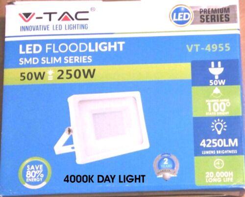 V-TAC VTAC FARO LED SMD BIANCO 20W 30W 50W 100W ESTERNO IP65 SLIM ULTRASOTTILE