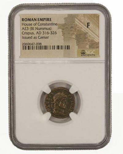 F NGC Roman AE3 of Crispus AD 304-326