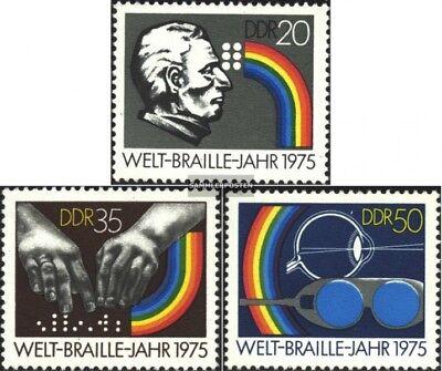 Postfrisch 1975 Blindenschrift kompl.ausgabe Gastfreundlich Ddr 2090-2092