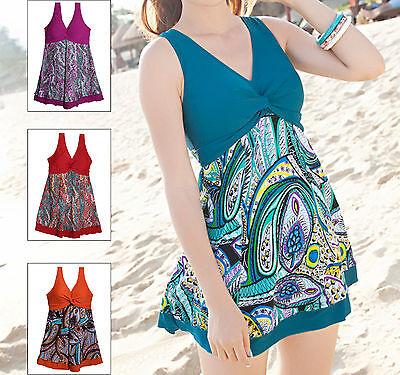 New Women Ladies One Piece Swimwear Swimdress AU Size 8 10 12 14 16 18 20 #73031