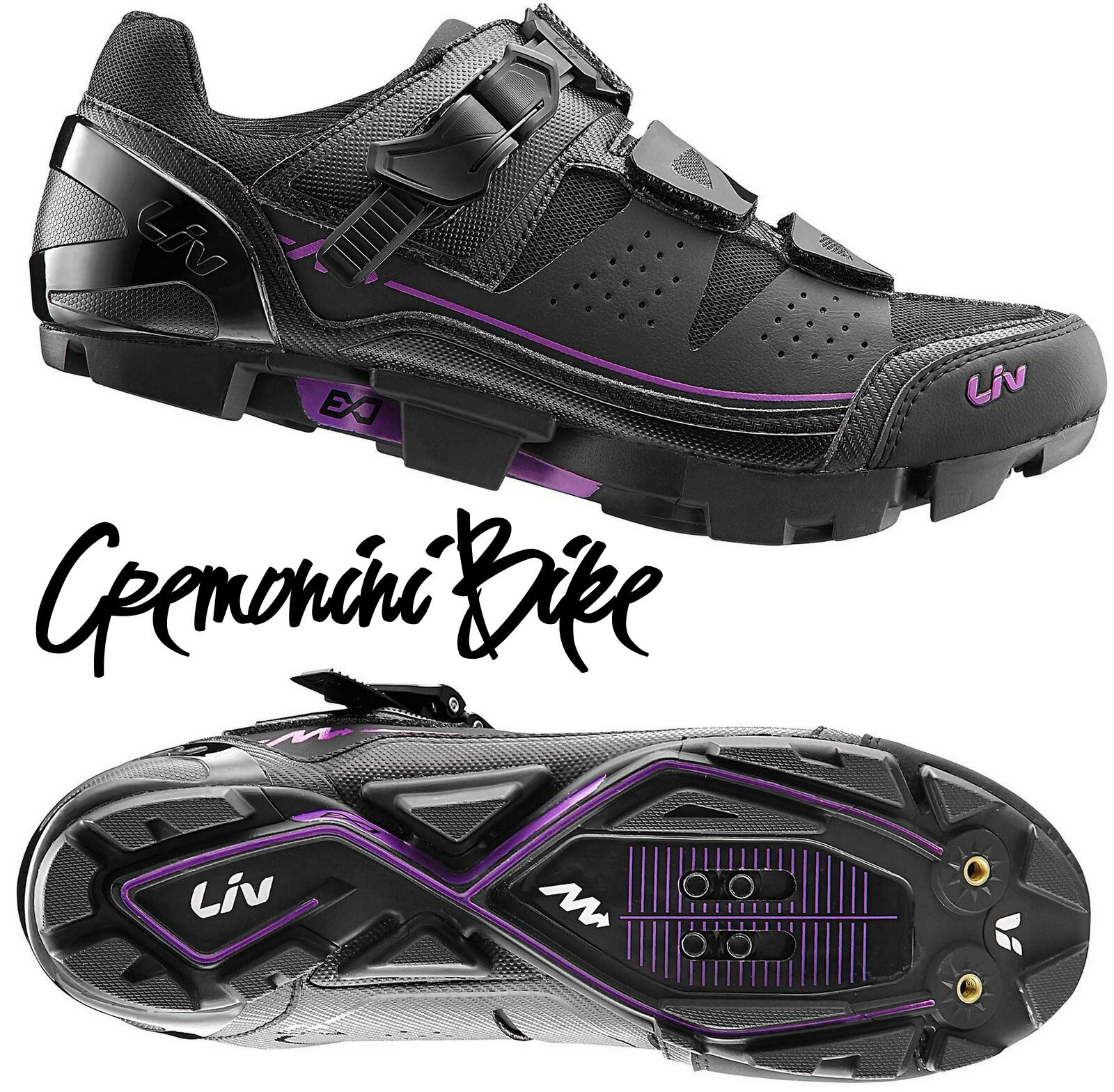 GIANT LIV scarpe mountain mtb bici mountain scarpe donna woman bike shoes enduro SALITA SPD d7ab3f