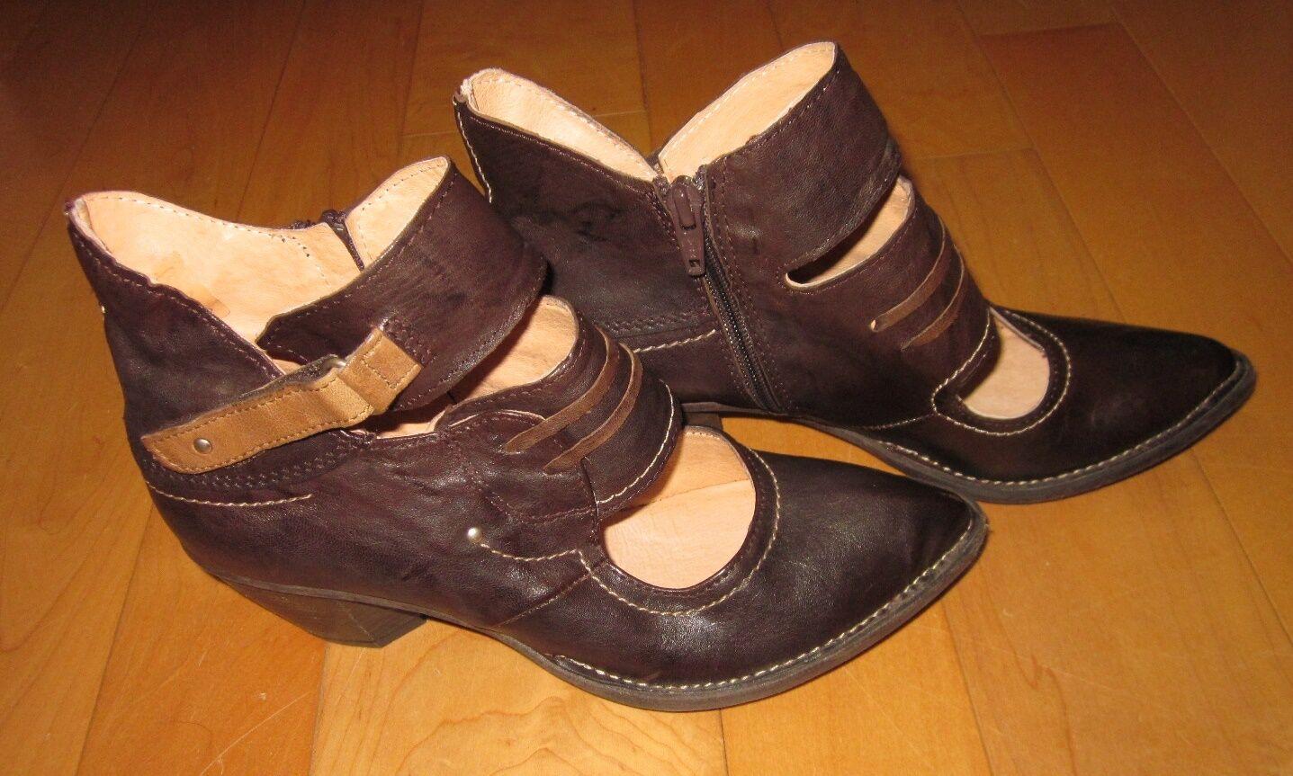 New Khrio donna Marronee Leather Heels Sharp Must C 38 US 7.5