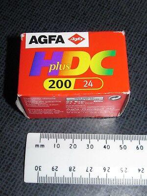 1 Caja Agfa Agfacolor Hdc Plus 200 Película De 24 (06/2002) Caducada