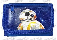 Disney Star Wars The Force Awakens Kids Tri-fold Wallet Black Blue Bb-8