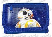 Disney Star Wars The Force Awakens Kids Tri-fold Wallet Black Blue Bb-8