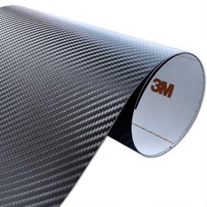 3m di noc carbonfolie folie ca 421 60x200cm schwarz ebay. Black Bedroom Furniture Sets. Home Design Ideas