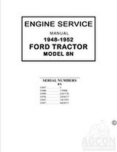 ford  tractor engine rebuild shop service manual   ebay
