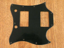 PICKGUARD BLACK FULL FACE SIZE SINGLE PLY FOR GIBSON SG STANDARD