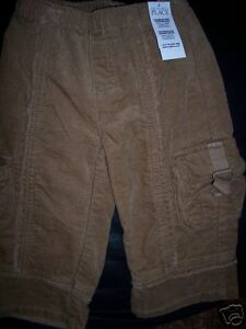NWT-TCP-Children-039-s-Place-Cargo-Corduroy-Girls-Pants-Size-18-Months-brown-Winter