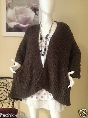 Gilet Grande Taille 42 44 46 48 50 52 54 Maille Laine Chaud Taupe